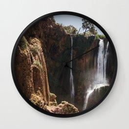 Ouzoud Waterfall Morocco Wall Clock