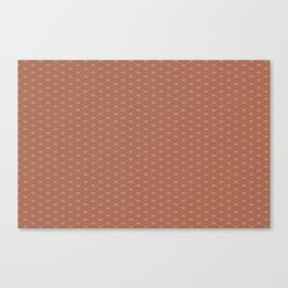 Sherwin Williams Canyon Clay Double Scallop Wave Pattern Canvas Print