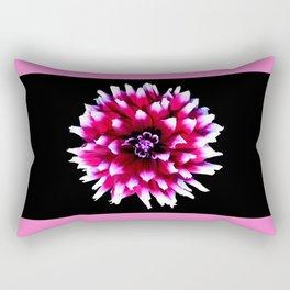 Dahlia in pink, red Rectangular Pillow