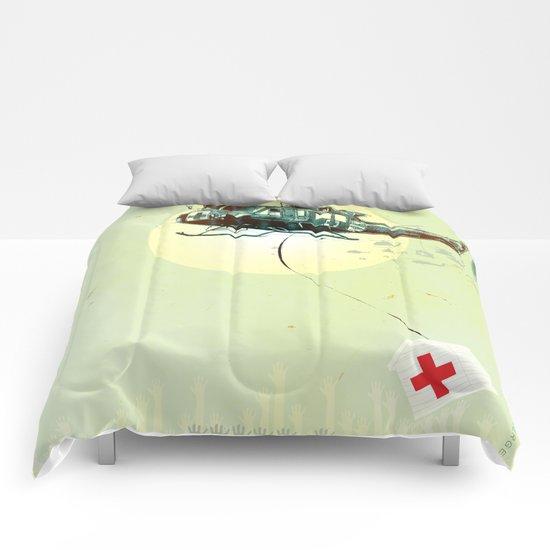 """Glue Network Print Series """"Emergency Relief"""" Comforters"""