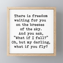 What if you fly? On the breezes of the sky Framed Mini Art Print