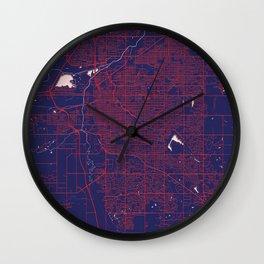 Lincoln, NE, USA, Blue, White, City, Map Wall Clock