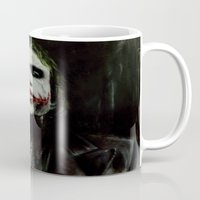 the joker Mugs featuring Joker by Vanessa Leach