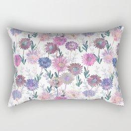 Gillian Floral White Rectangular Pillow