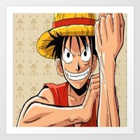 one piece Art Prints featuring One piece by Duitk
