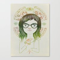 daria Canvas Prints featuring Daria by Nina Le Corre