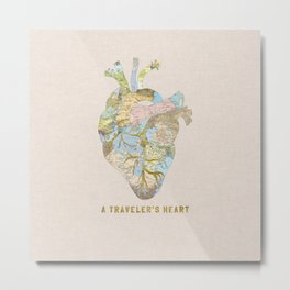 A Traveler's Heart Metal Print