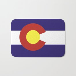 colorado state flag united states of america country Bath Mat