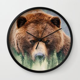 Grizzly Wood Wall Clock