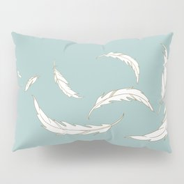 Come fly with me blue illustration Pillow Sham