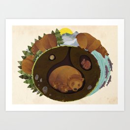 The Life Of A Grizzly Art Print