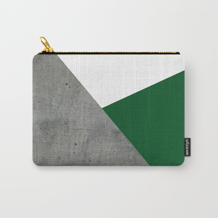 Concrete Festive Green White Carry-All Pouch