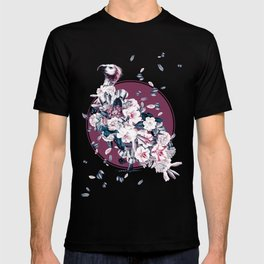 Vulture and Floral T-shirt