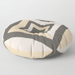 Brown Tan Cream Geometric Shape Diamond 2021 Color of the Year Urbane Bronze and Accent Shades Floor Pillow