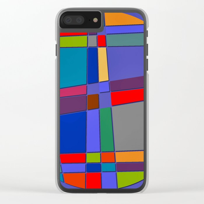Abstract #68 Clear iPhone Case