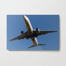 Boeing 737-800 flyover Metal Print