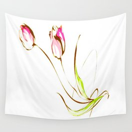 TULIPS-PAINTING Wall Tapestry