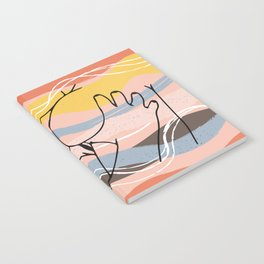 The Waves Of Sex, Erotic Lovers Art, Minimalist Sex Illustration, Modern Sex Pose Line Drawing Notebook