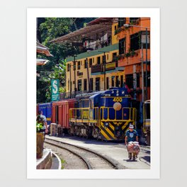 Peru Rail Train - Aguas Calientes Art Print