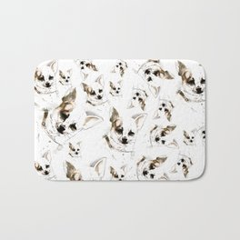 Chihuahua watercolor pattern Bath Mat