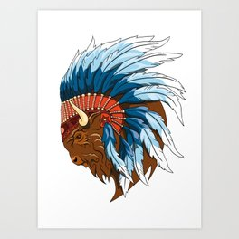Buffalo Head - American Bison Art Print