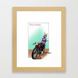 Sarah's Caferacer Framed Art Print