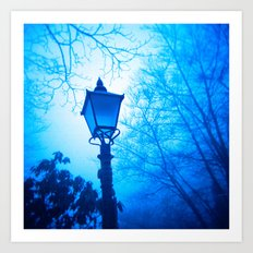 The Blue Lamp Art Print