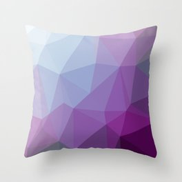 Shades Of Purple Triangle Abstract Throw Pillow