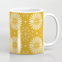 Happy Sunshine - yellow art, sunshine, boho art, bohemian, tile, home decor, yellow, yellow art print Coffee Mug