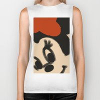 minnie mouse Biker Tanks featuring Doodling Minnie Mouse by SH.drawings