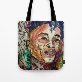 X,rapper,rip,hiphop,music icon,lyrics,colourful poster,dope,wall art,cool,shirt Tote Bag