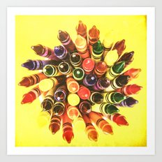 Crayon Love: Crayon Bouquet Art Print