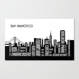 Skyline San Francisco Canvas Print