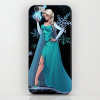 frozen elsa iPhone & iPod Skins featuring Frozen - Elsa by J Skipper