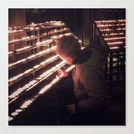 Prayer Boy Canvas Print