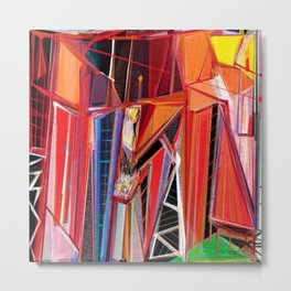 The Cryptic Plinths, Abstract Art Metal Print