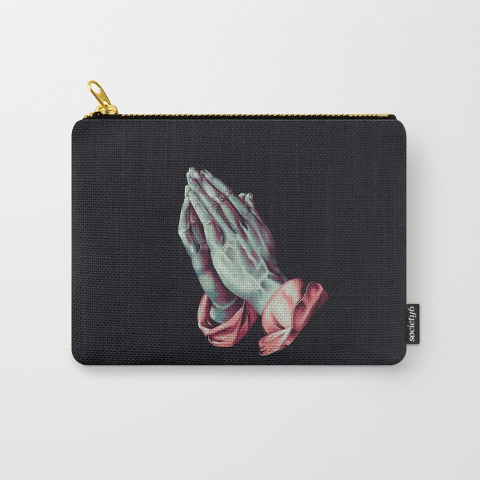 2017eea4d66c Praying Hands (Albrecht Durer) Digital Painting Carry-All Pouch by ...