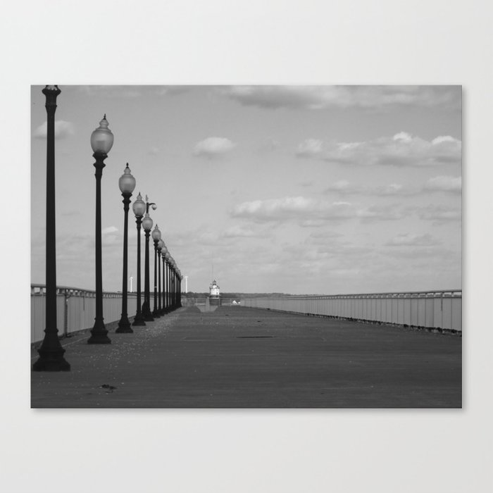 New Bedford Pier Canvas Print