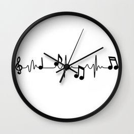 MUSICAL HEART BEAT Wall Clock