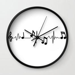MUSICAL HEART BEAT Wall Clock