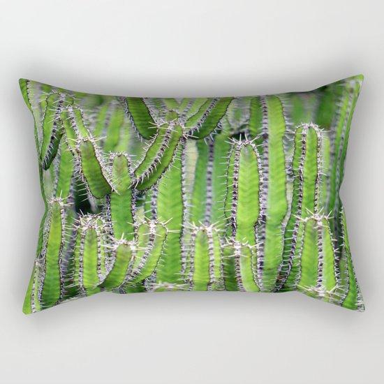 cactus illusion 4 Rectangular Pillow