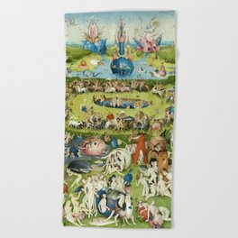 The Garden of Earthly Delights by Hieronymus Bosch Beach Towel
