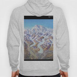 Heinrich Berann - Panoramic Painting of Denali National Park with labels (1994) Hoody