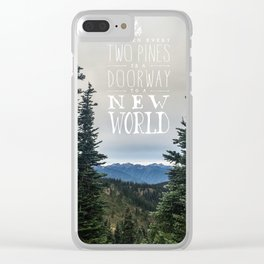 Between Two Pines Clear iPhone Case
