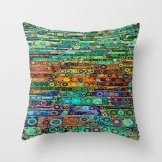 :: Technicolor Walkway :: Throw Pillow