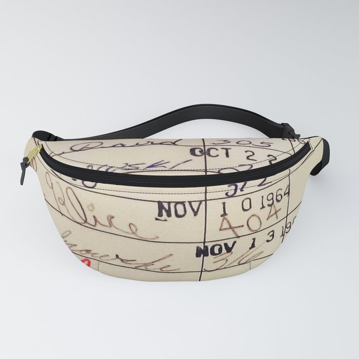 Library Card 23322 Fanny Pack