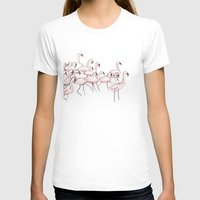 flamingos T-shirts featuring Flamingos by Madeleine Groves