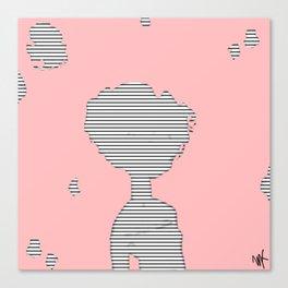 Striped Girl Canvas Print