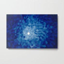 Pattern of Cinco Sapphire Metal Print