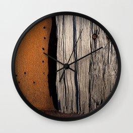Rust & Old Wood Wall Clock